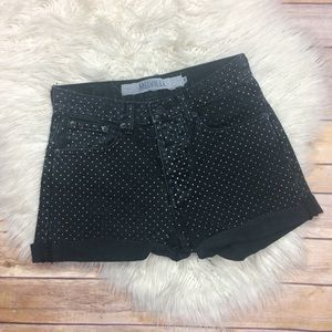 Brandy Melville | Polka Dot High Rise Denim Shorts